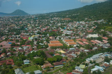 HAL110610A0003  Aerial veiw of town, Ternate, Halmahera, Maluku Islands, Indonesia