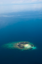 HAL110610A0009  Aerial veiw of tropical shallow reef, Halmahera, Maluku Islands, Indonesia