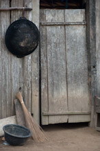 HAL110610A0038  Traditional wooden house door, Halmahera, Maluku Islands, Indonesia