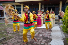 HAL240510A0008  Traditional dance welcome, Tenate, Halmahera, Maluku Islands, Indonesia